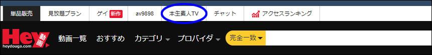本生素人TVメニュー