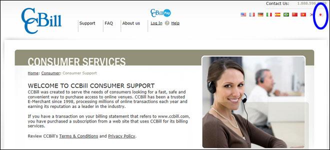 CCBILLホームページ