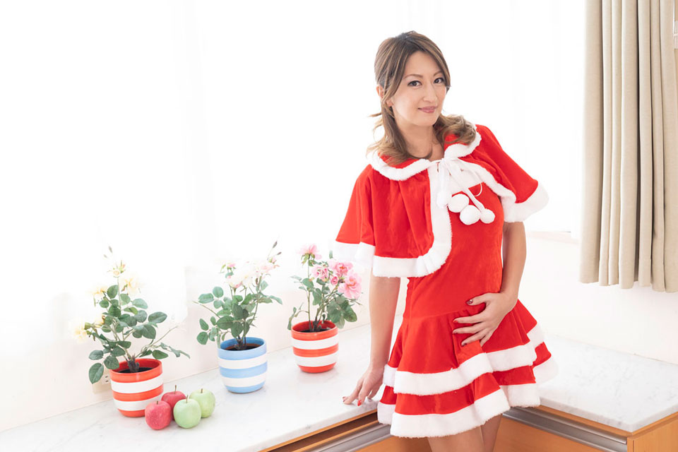 サンタ姿の玲奈