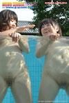 プールでおまんこ丸見えのりかとしおり